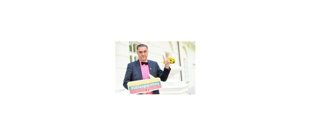 """Susitikimas su kampanijos """"Už saugią Lietuvą"""" ambasadoriumi Algirdu Kaušpėdu"""
