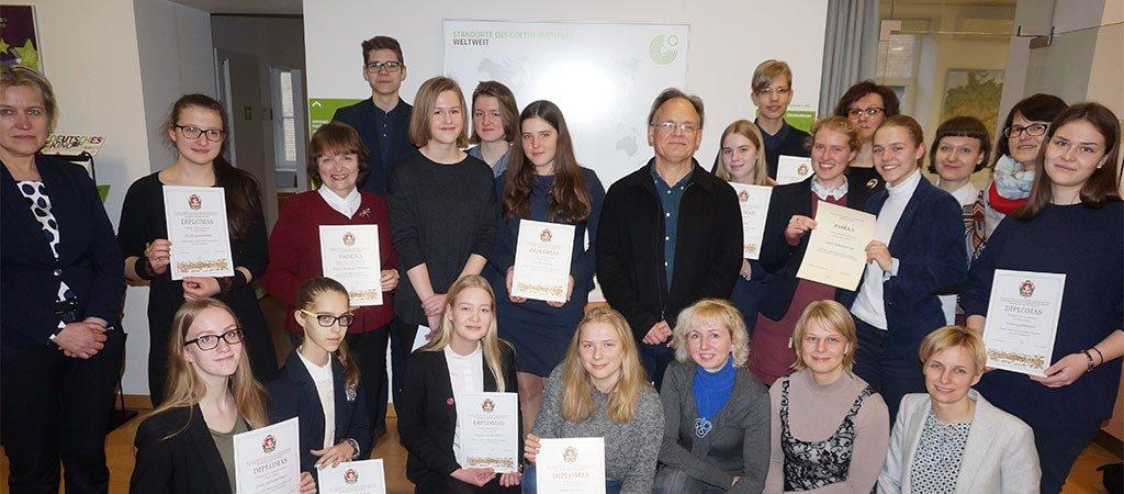 Sėkmė Vilniaus miesto vokiečių kalbos olimpiadoje