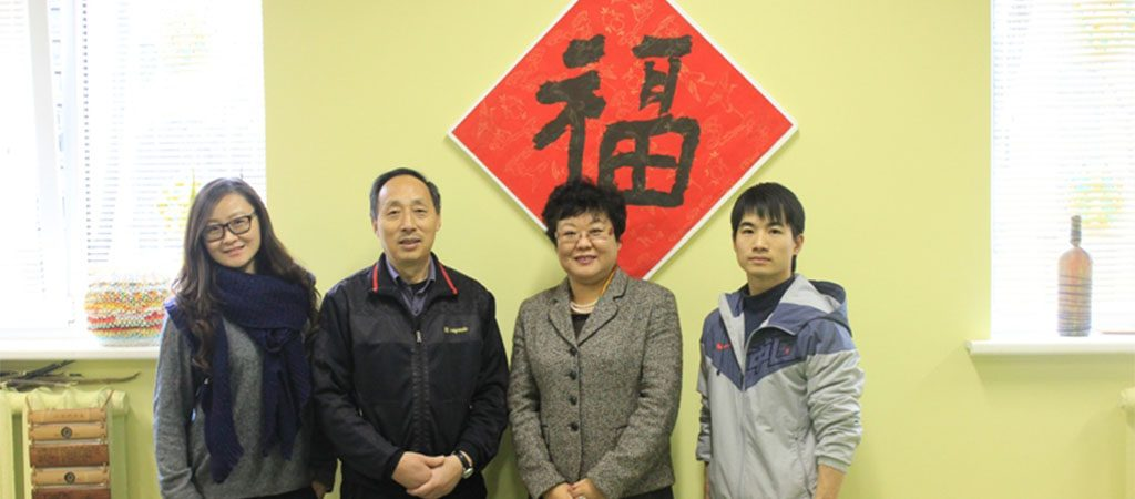 Mokykla sulaukė svečių iš Kinijos