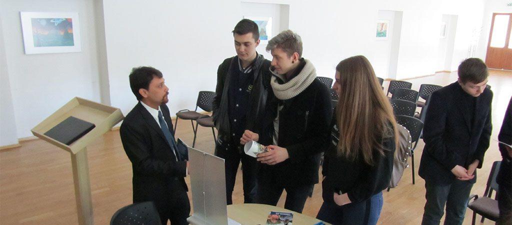Licėjuje svečiavosi Europos universitetų atstovai
