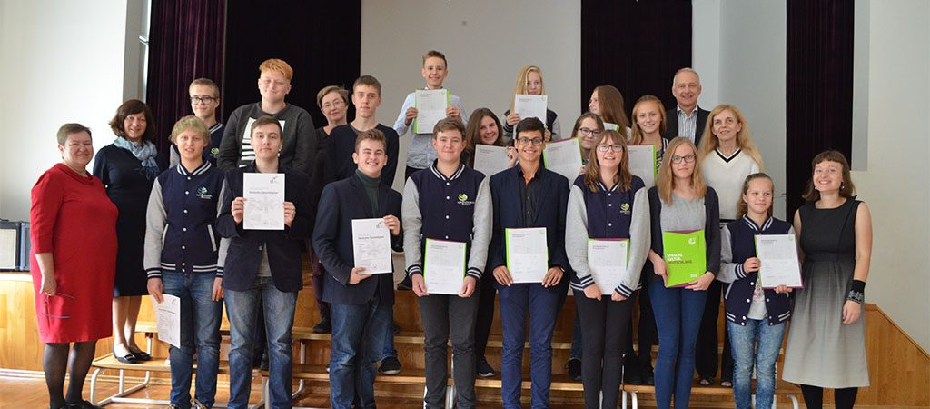 Suteikti A1, A2 ir B1 lygių vokiečių kalbos diplomai