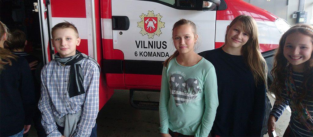 Penktokai lankėsi Priešgaisrinėje gelbėjimo tarnyboje