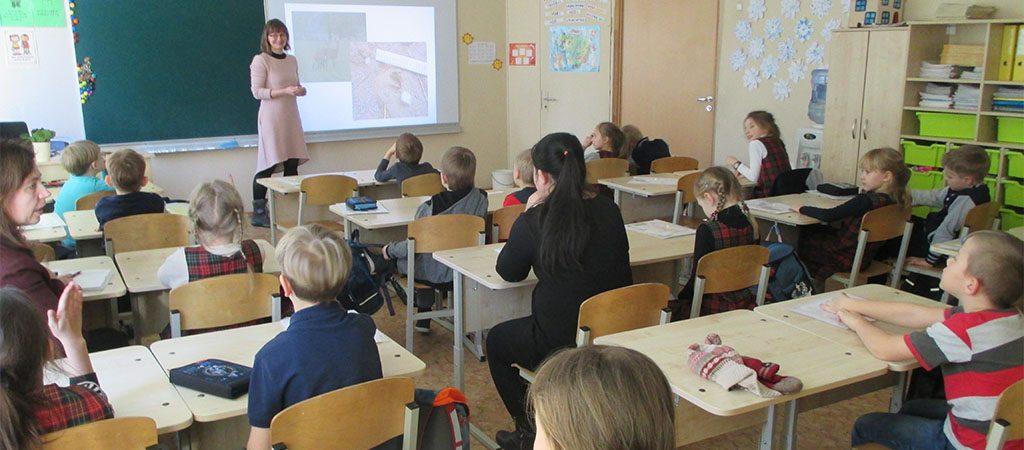 Pėdsekystės pamoka 1c klasėje