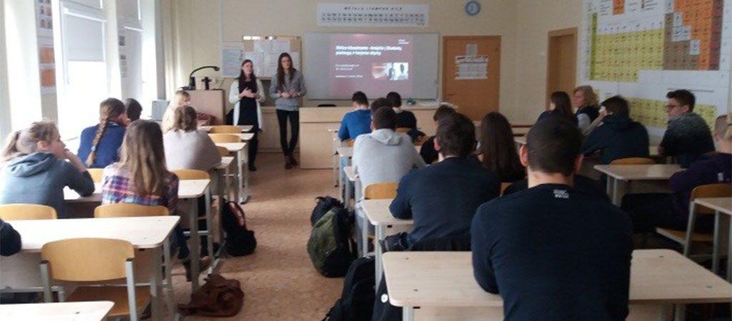 Vilniaus universiteto studijų pristatymas dvyliktokams