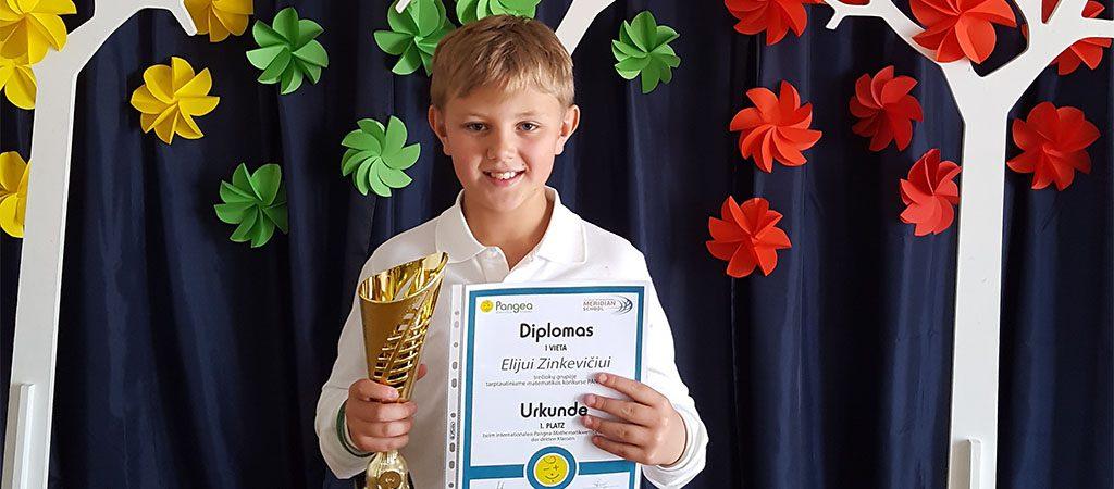 Jaunojo matematiko sėkmė Pangea olimpiadoje