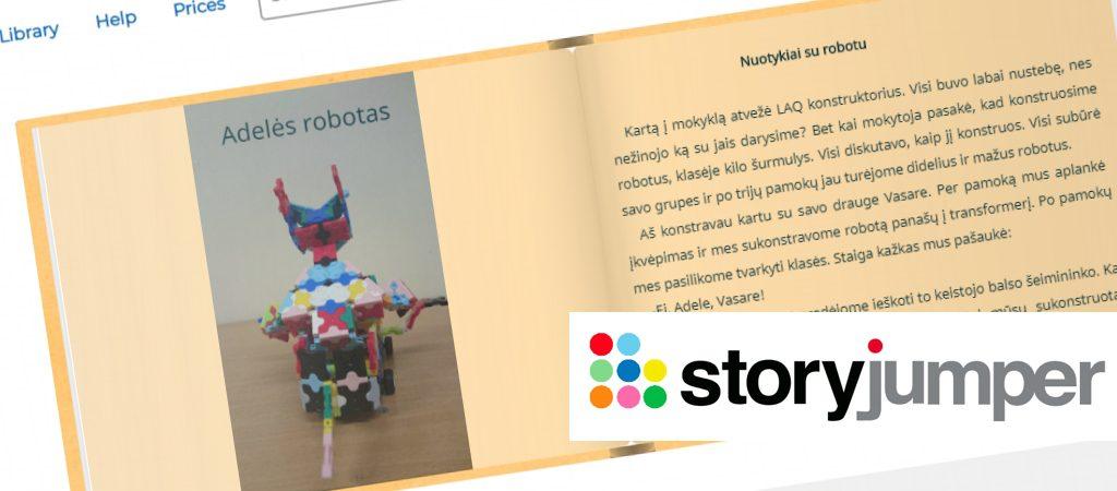 """4b klasės klasės mokinių sukurta knygelė """"Robotų pasaulyje"""""""
