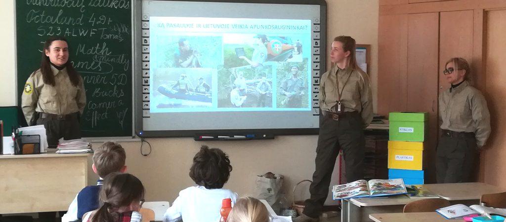 Gamtosaugos pamokėlė licėjaus visos dienos mokyklos mokiniams