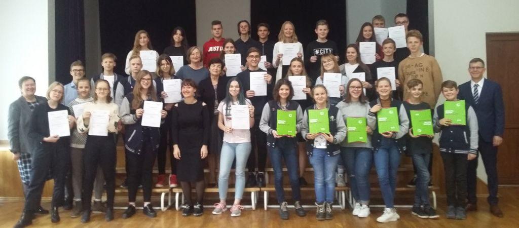 Įteikti vokiečių kalbos diplomai