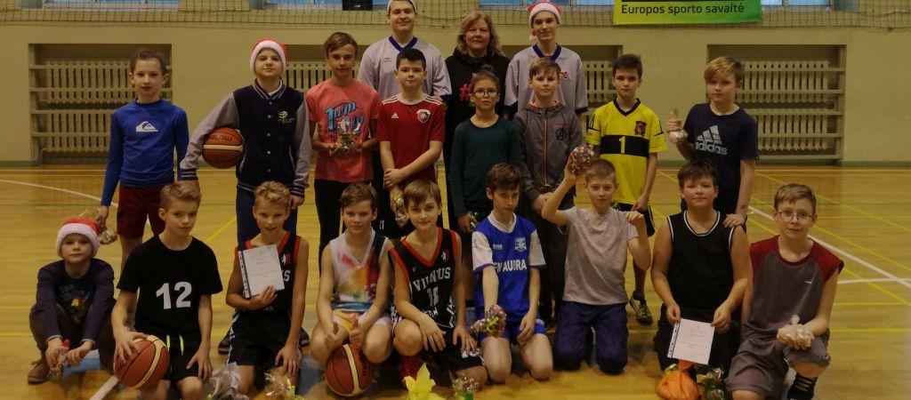 Kalėdinis penktokų 3X3 krepšinio turnyras