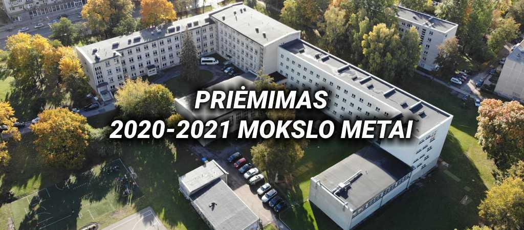 Priėmimas 2020 – 2021 mokslo metai