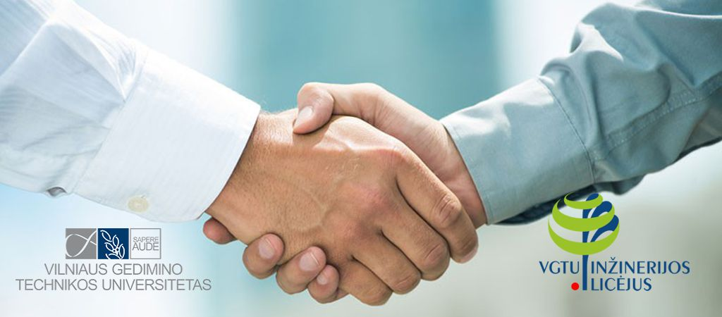 Licėjaus bendruomenė dėkoja VGTU už bendradarbiavimą