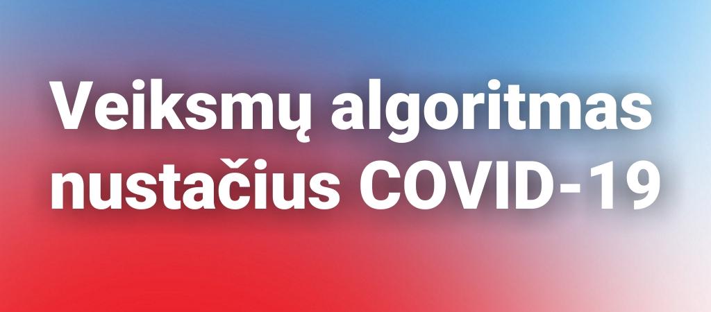 Veiksmų algoritmas nustačius COVID-19