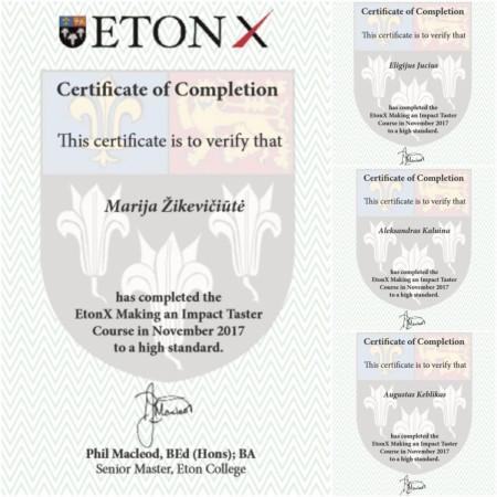 Eton Certificates