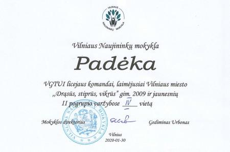 Padėka DSV IV vieta page-0001