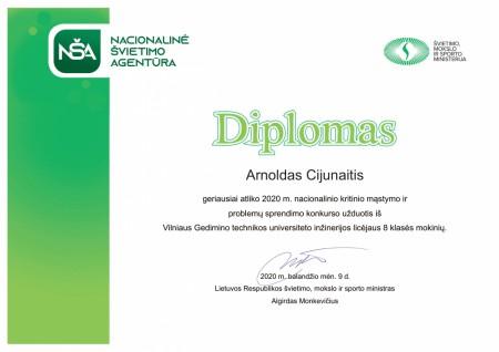914382711 Diplomas Arnoldas Cijunaitis 8-1