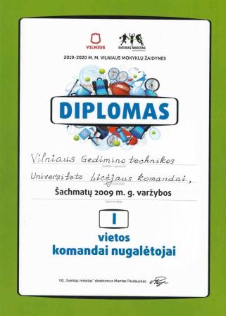 Diplomas Šachmatai I vieta page-0001