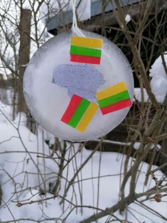 Ledo vitražas-