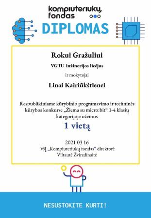 Kompiuteriukų fondas Diplomas VGTU licėjui-page-001